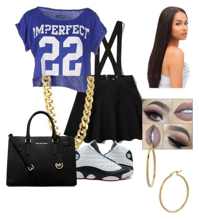 """Untitled #36"" by parislanee on Polyvore featuring Abercrombie & Fitch, !M?ERFECT, Bony Levy, CC SKYE and MICHAEL Michael Kors"