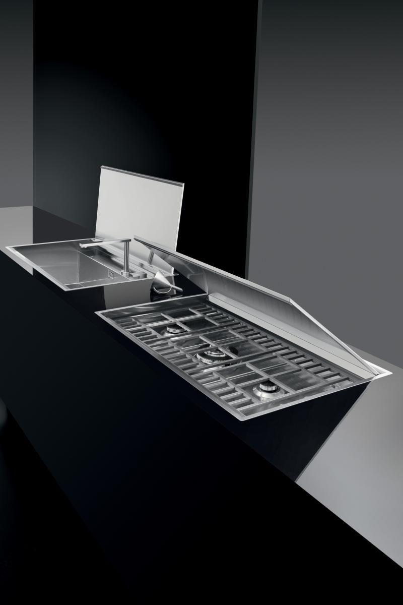 Piano cottura Lab incasso e filo da 120 - Barazza srl | Cucina nel ...