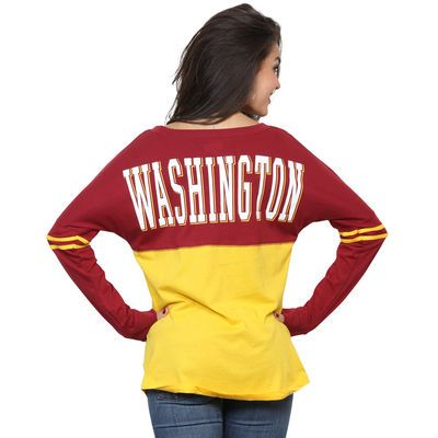 Women s Washington Redskins 5th   Ocean by New Era Gold Baby Jersey Spirit  Top Long Sleeve T-Shirt 08d4df27a3