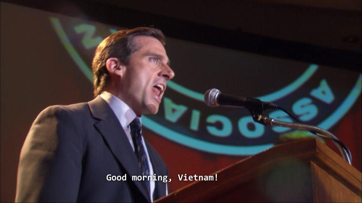 Dwight S Speech Good Morning Vietnam The Office Tv Shows