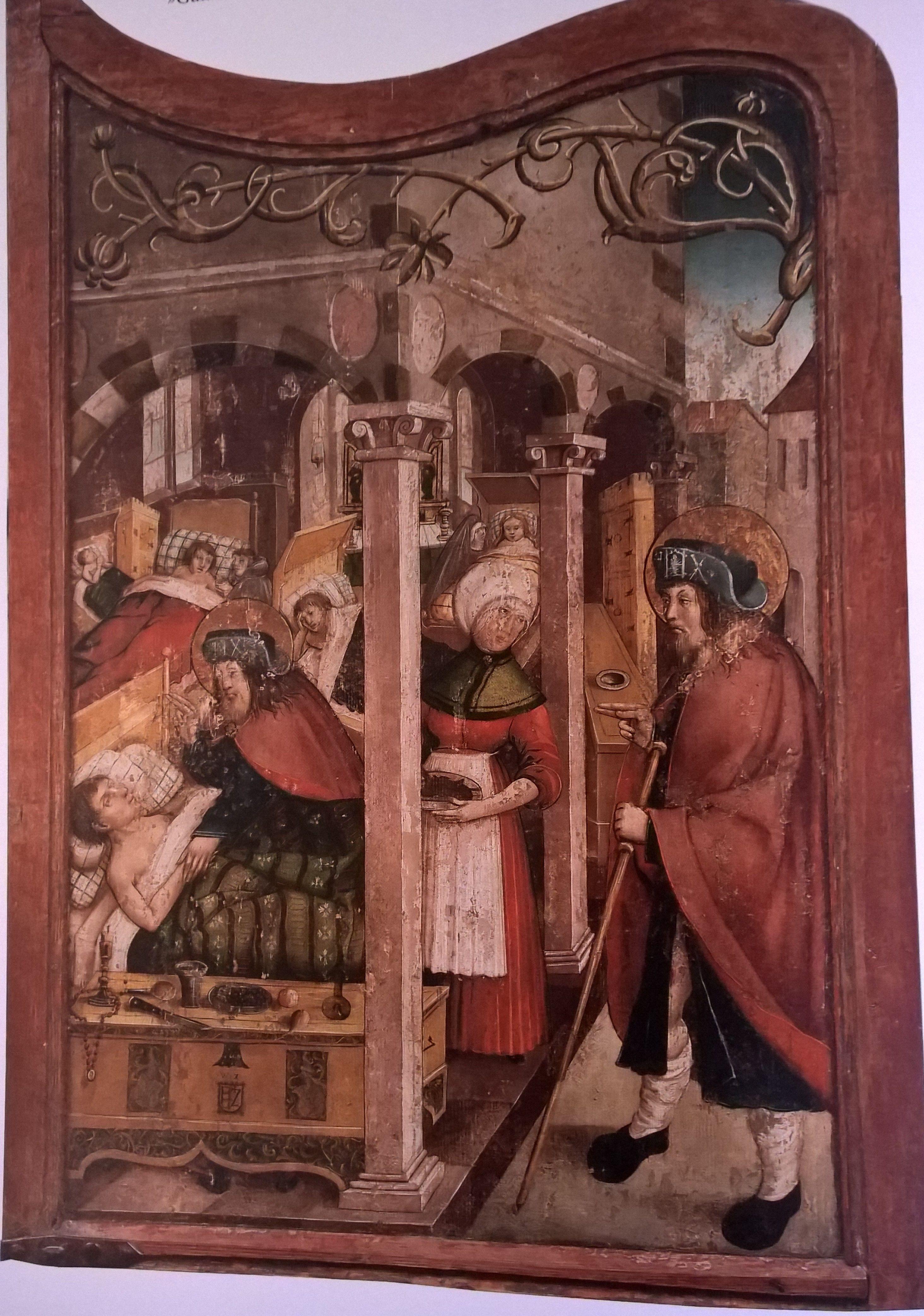 St Rochus Pflegt Die Kranken Altar St Wolfgang Rothenburg 1514