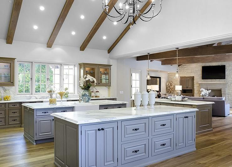 Kitchen Cabinets Vaulted Ceiling amazing kitchen features a vaulted ceiling fitted with rustic wood