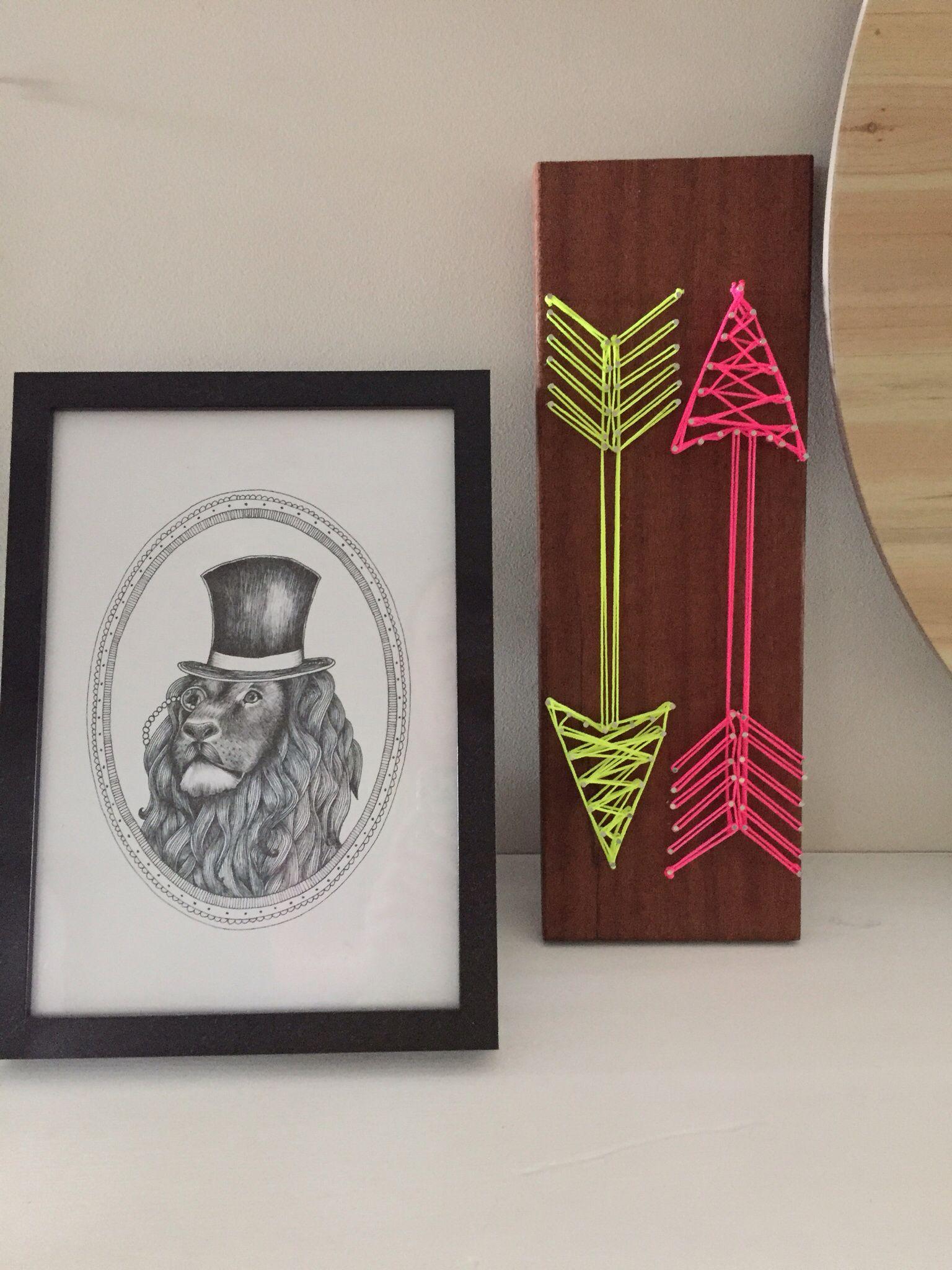 DIY string art. Neon. Arrows. | I Did This | Pinterest