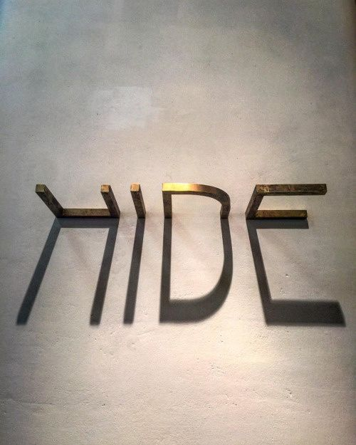 #hide #letters #shadow in Typography, lettering
