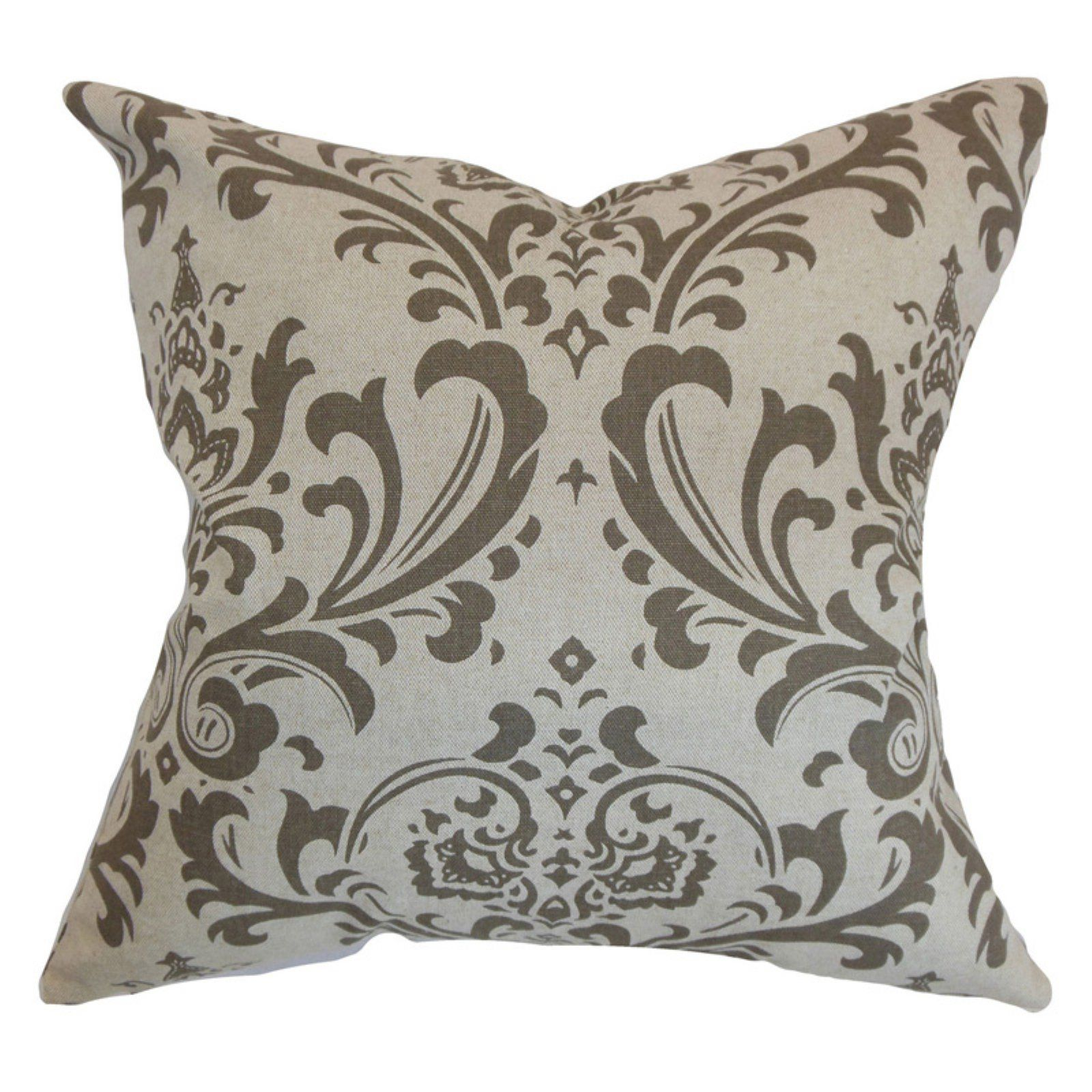 The Pillow Collection Olavarria Damask Throw Pillow Cover
