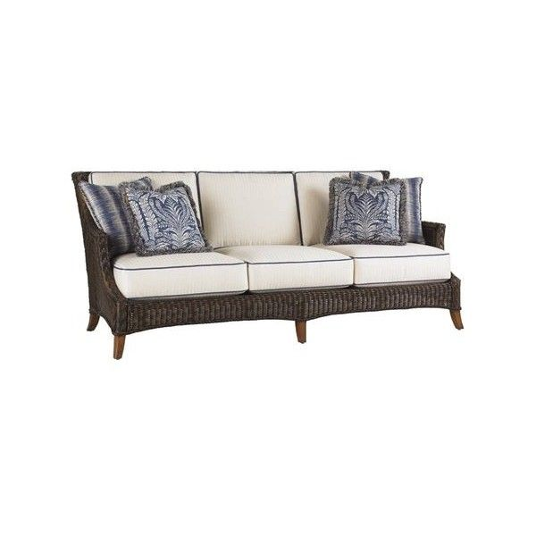 (Patio Furniture For Less)Tommy Bahama Island Estate Lanai Outdoor Sofa  With Pillows   Archipelago Skies   Frontgate, Patio Furniture