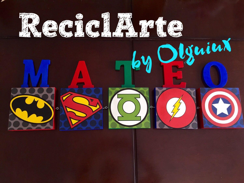 Cuadros Super Heroes logo para habitación de niños de ...