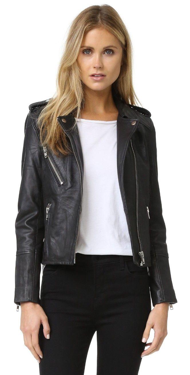 20be794e6 Moto Jacket | perfect leather jacket | Womens black leather jacket ...