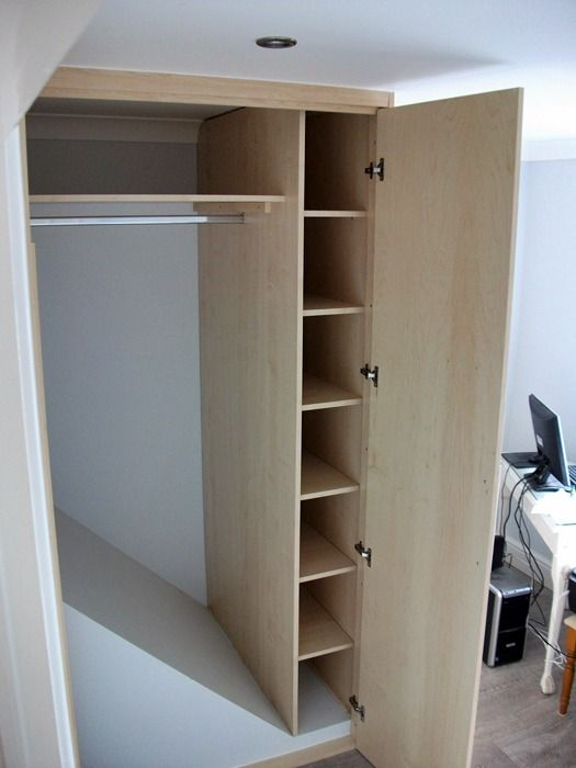 Bed Over Stair Box With Storage And Stairs: Wardrobe Built Over Stair Well Bulkhead