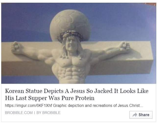 I guess he died for our gainz.