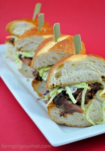 Beer Braised Oxtail Sliders with Broccoli Slaw Spicy Beer Braised Oxtail Sliders with Broccoli SlawSpicy Beer Braised Oxtail Sliders with Broccoli Slaw