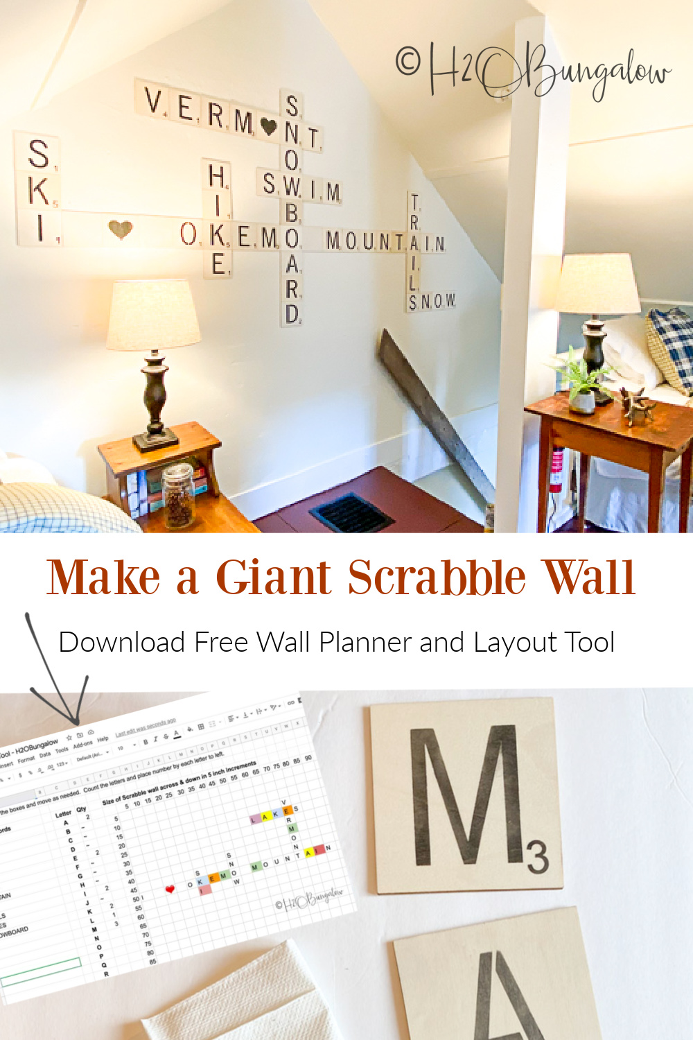 How To Make Scrabble Wall Art With Scrabble Generator Scrabble Wall Scrabble Wall Art Large Scrabble Tiles