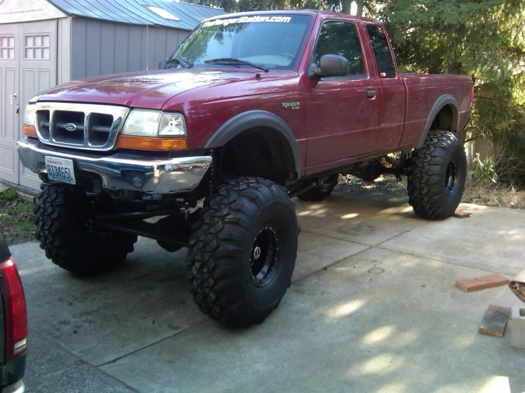 1999 ford ranger foa coilovers sitting on 15 15 and 3 inch body lift