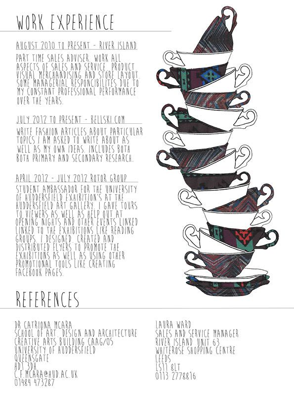 Creative CV - Bethany Falkingham Interesting Resumes Pinterest - how to write a fashion resume