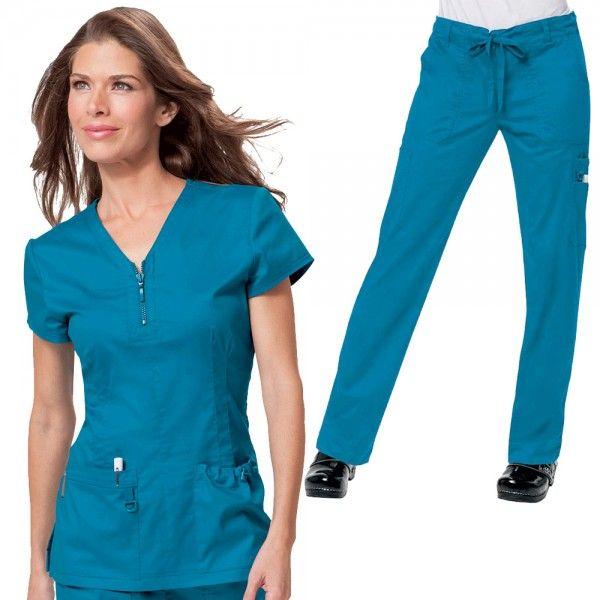 66e64301d4f Koi Stretch Set in Ultramarine consist of Koi Mackenzie scrub top and Koi  Stretch Lindsey scrub trousers, £59.99 #setscrubs #scrubs #uniforms  #nursescrub ...