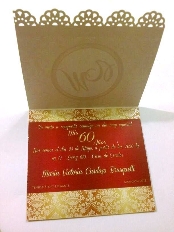 Cumple 60 Años Cumple 60 Años Invitaciones De Cumpleaños