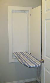 DIY wall ironing board tutorial