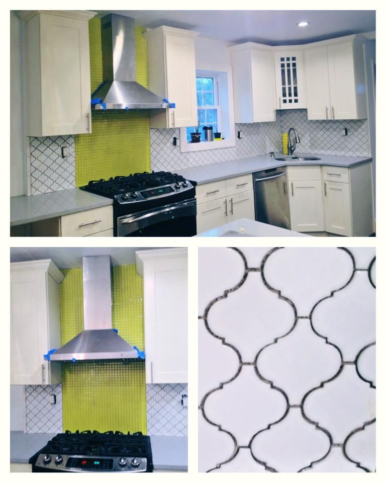 Grey And Yellow Kitchen Sun Gl Tiles From Lowes Online Merola White