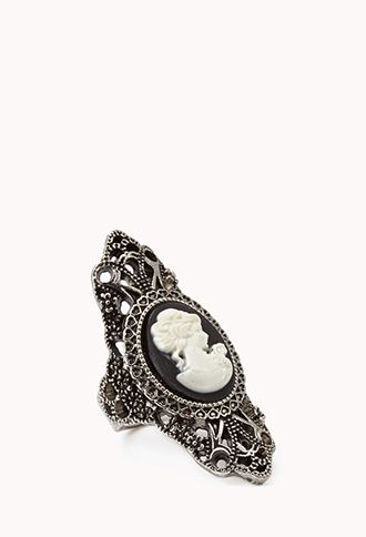 Burnished Cameo Knuckle Ring | FOREVER 21 - 1000051906