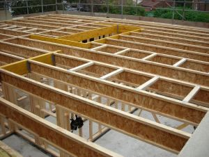 An ewp floor layout gould design inc pinterest for Wood floor joist construction