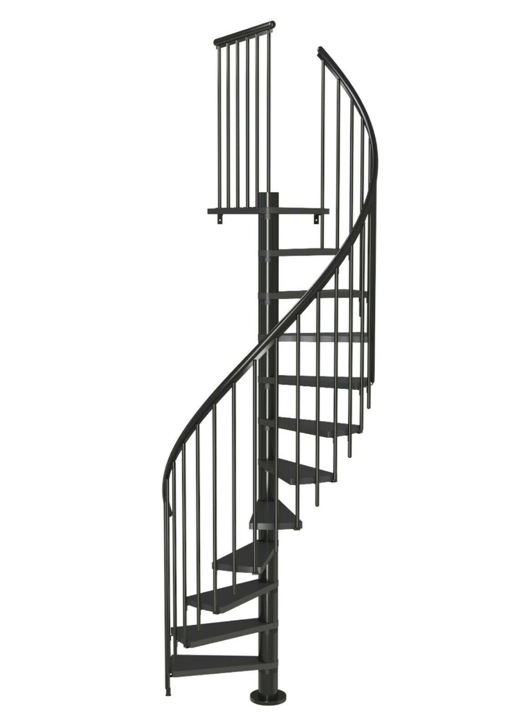Best Dolle Calgary Loft Spiral Staircase Kit 1200Mm Diameter 640 x 480