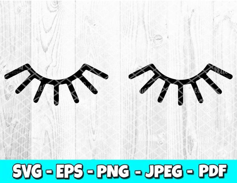 Eyelashes svg digital download eyelash room decor