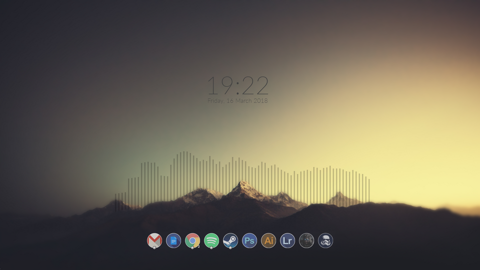 Https Www Reddit Com R Rainmeter Comments 84yakr My First Minimalist Desktop Minimalist Desktop Wallpaper Anime Wallpaper Live Desktop Design