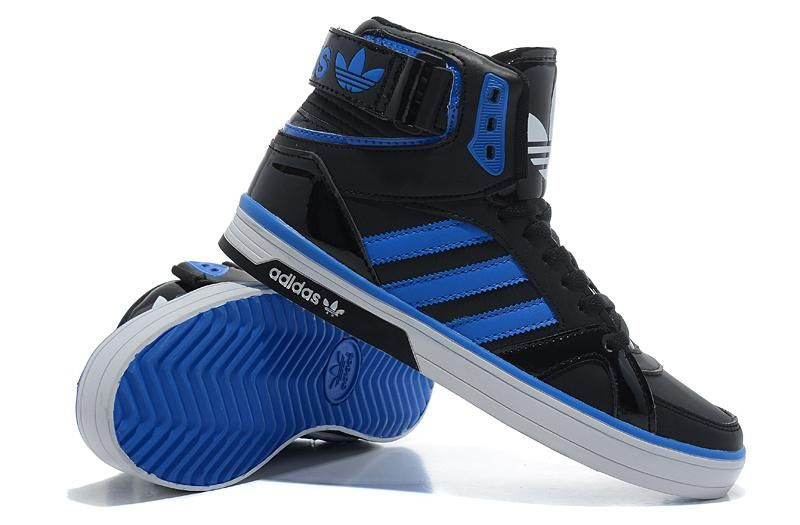 Blue Adidas High Tops | Adidas space diver High Tops Black