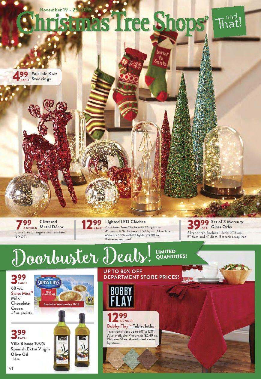 Christmas Tree Shops Ad October 20 November 1 2015 Weekly Ads And Circulars October 2015 Us Retailers And Gr Christmas Tree Shop Holiday Decor Metal Decor