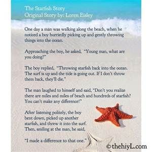photograph relating to Starfish Story Printable identified as Starfish Tale Printable - Bing Photos Quotations/Determination