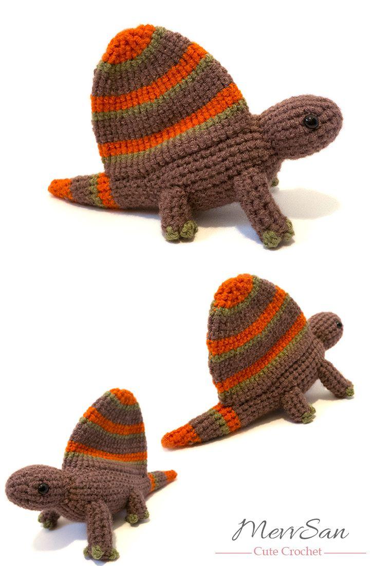 Amigurumi Dimetrodon Pattern | jugando | Pinterest | Crochet ...