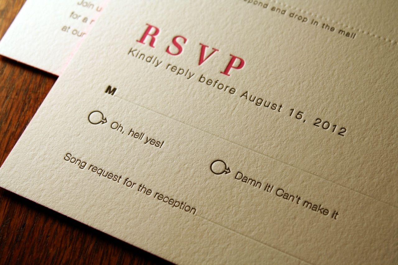 wedding invitation reply card