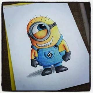 Moi Moche Et Méchant Minion Drawing Dessin Kawaii