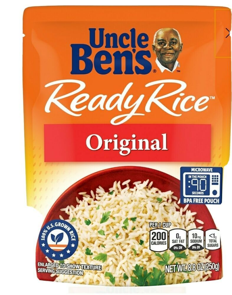 Lot 6 packs uncle bens ready rice original long grain