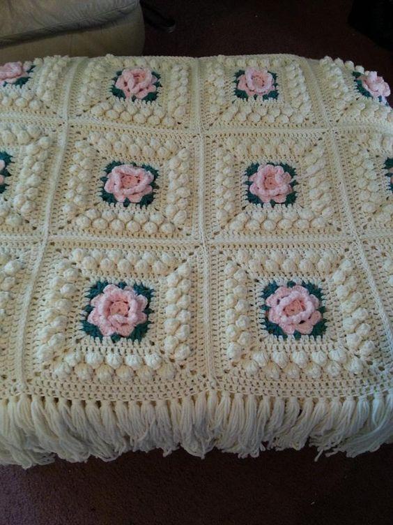 Crocheted afghan ideia para a - Colchas de ganchillo para bebe ...