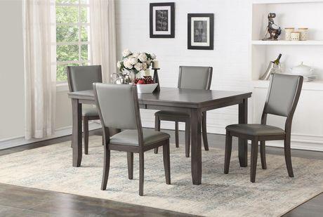 Topline Home Furnishings Simple Grey Dining Table Grey Grey