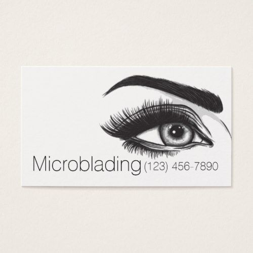 Microblading eyebrows tattoo permanent makeup business card microblading eyebrows tattoo permanent makeup business card artists unique special customize presents reheart Image collections