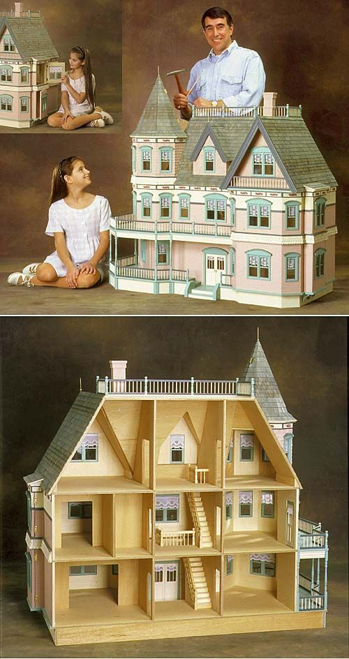 queen anne dollhouse kit puppenstube miniatur und spielhaus. Black Bedroom Furniture Sets. Home Design Ideas