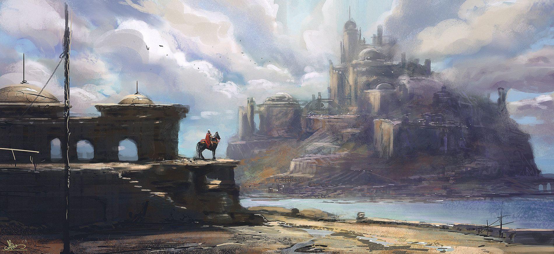 ArtStation - Castle in the clouds, Alejandro Olmedo