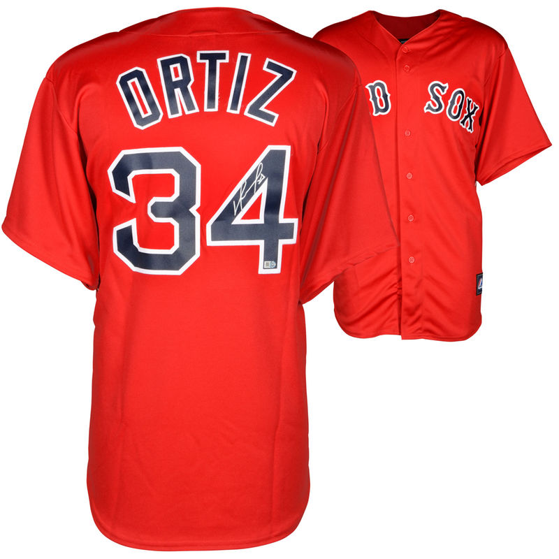 hot sale online cbe56 0a04a David Ortiz Boston Red Sox Fanatics Authentic Autographed ...