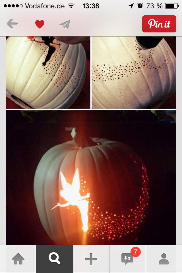 k rbis elfe halloween disney pumpkin tinkerbell. Black Bedroom Furniture Sets. Home Design Ideas
