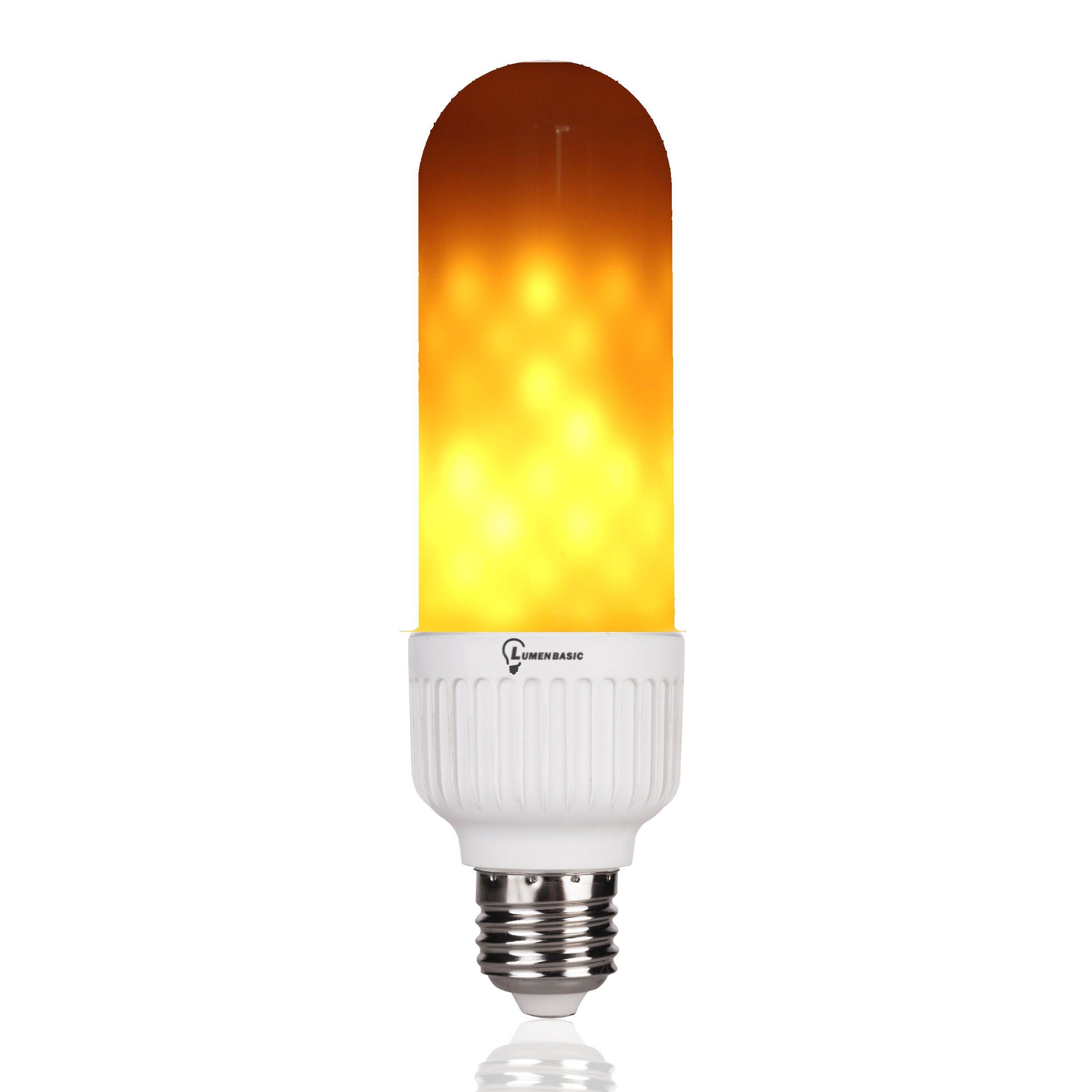 Lumenbasic Flickering Flame Light Bulb E26 Led Flame Effect Light Bulb Decorative Atmosphere Lighting Vintage 5w Three Modes Ac 110v 120v Flaming Light Bulb For Lamp Light Bulb Decorative Light Bulbs