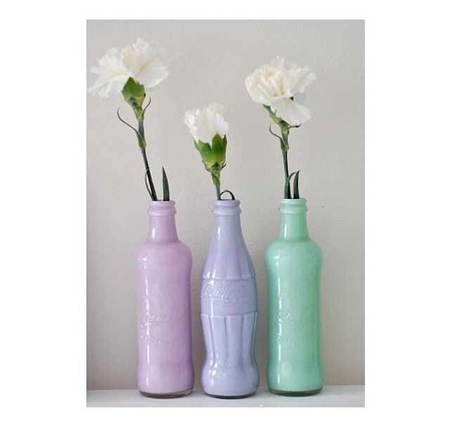 Super Easy Take An Empty Coke Bottle Spray Paint It And Put Some