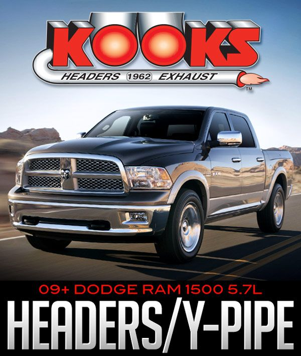 2009-16 Ram 1500 5 7l V8 Kooks Headers and Y-Pipe Connection