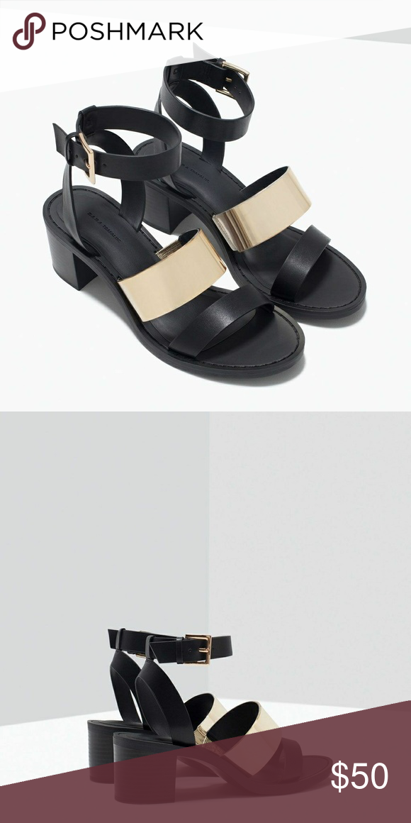 97b9f7264ff NEW ZARA Block Heel with Metal Sandals  check out the closet for freebies