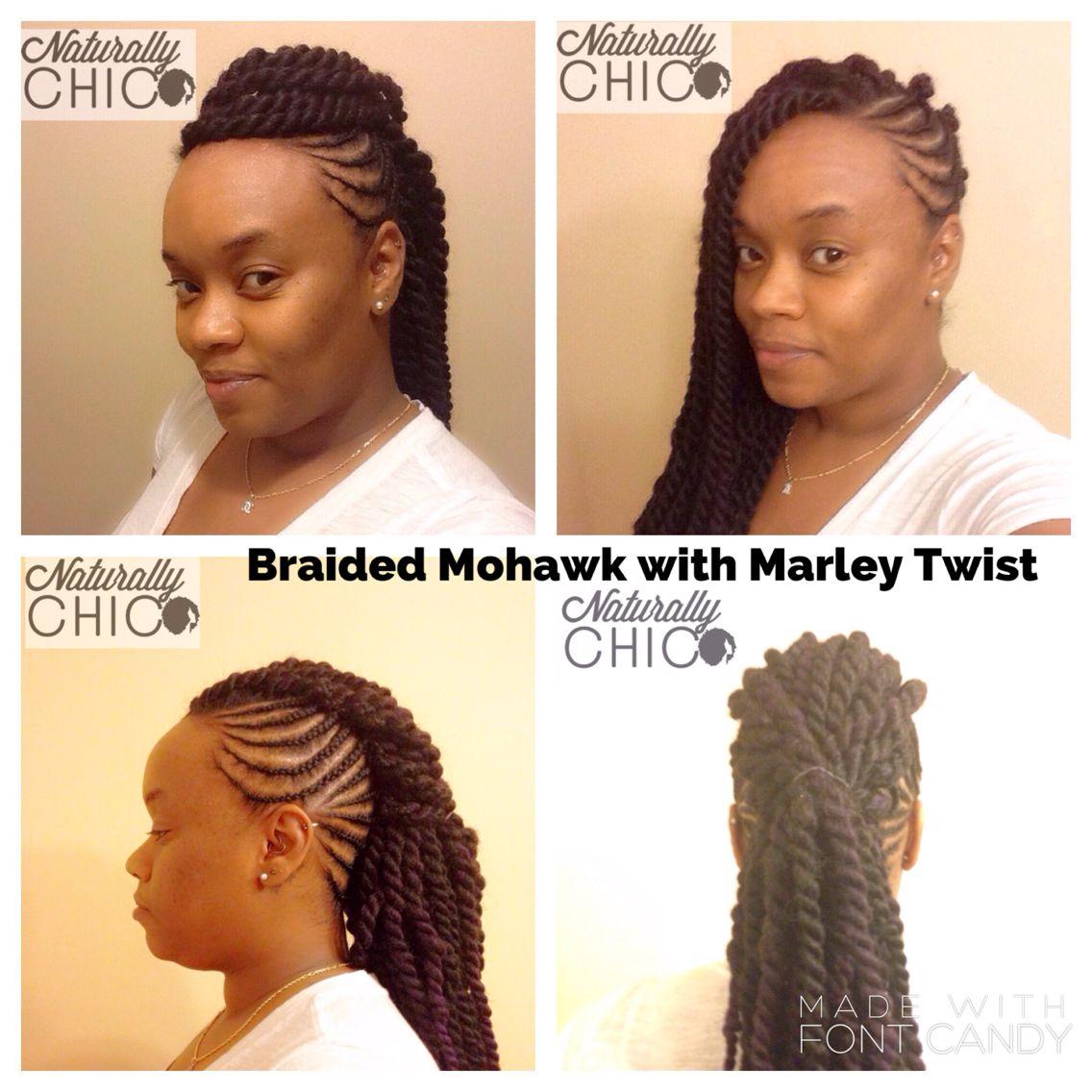 Braided Mohawk with Marley twist Zumba twist in Pinterest