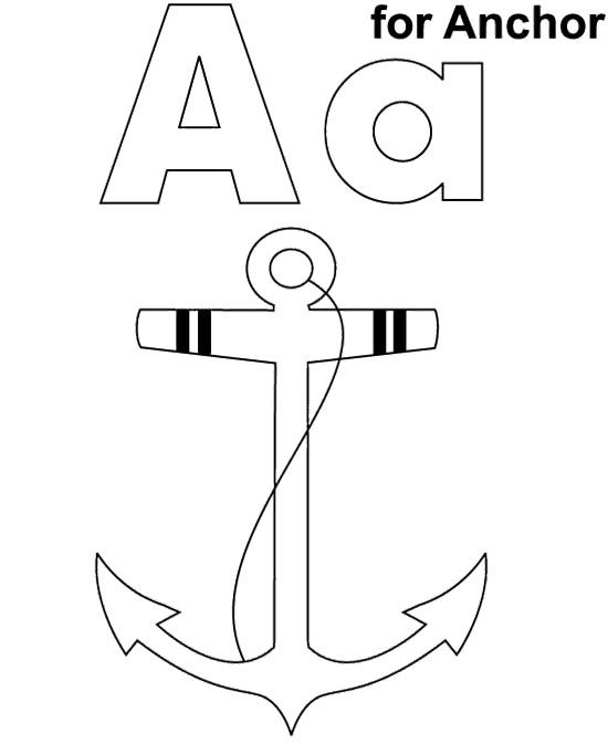 A For Anchor Coloring Pages Coloring Pages Coloring Pages For Kids Coloring For Kids