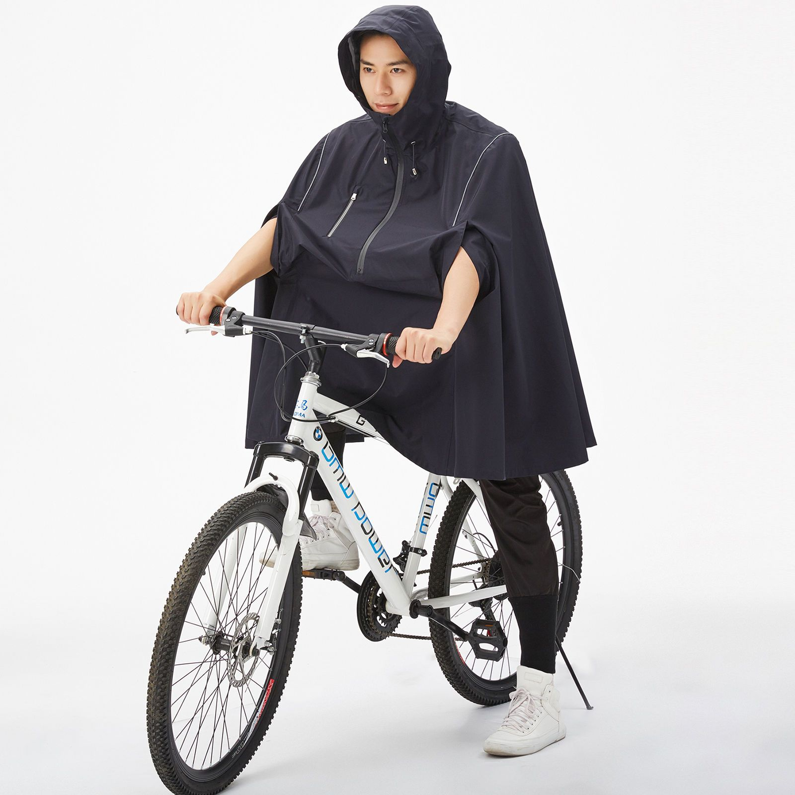 2c66a93c0 Mens Cycling Waterproof Raincoat Rain Coat Poncho Hooded Bicycle Adult Bike  XL