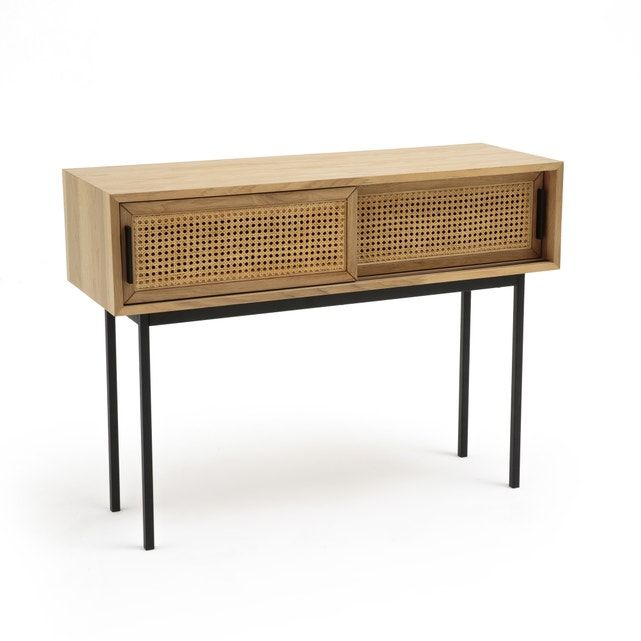 Waska Rattan Oak Console Table In 2019 Kitty S Bedroom