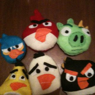 Angry Bird Felt bean bags